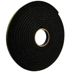 12mm x 6mm x 15m Black Glazing Tape
