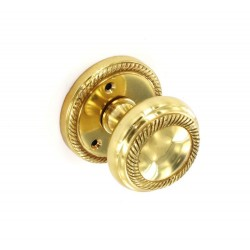 Brass Mortice Georgian Knob Handles Set