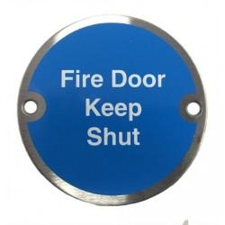 JFD200SS Fire Door Keep Shut Sign