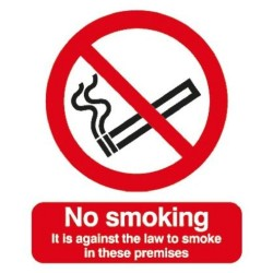 A5 Rigid No Smoking Sign
