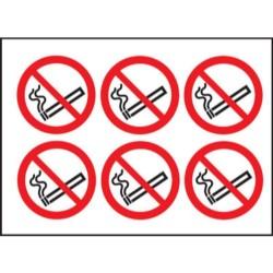 DC01 100 x 100 No Smoking Sign (6 Per Sheet)