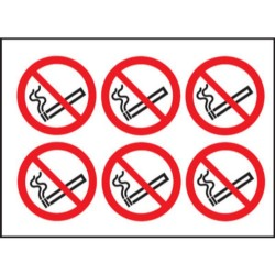 DC01 100 x 100 No Smoking Sign (6 Per Sheet)