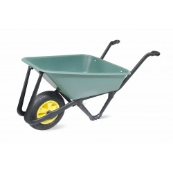 Lasher 70L Green Eco Wheelbarrow With Pneumatic Wheel