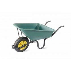 Lasher 70L Concrete Polypan Wheelbarrow With Pneumatic Wheel