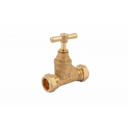 COMAP 10901 15mm Brass Compression Stopcock Valve