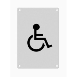 150mm x 100mm x 1.5mm Engraved Disabled Symbol