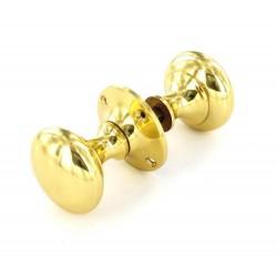 Brass Victoria Rim Knob Set