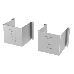 Coburn Steel Sliding Door Track Closed End Pieces (Pair)