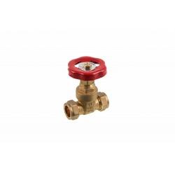 COMAP 07902 22mm Brass Compression Gatevalve