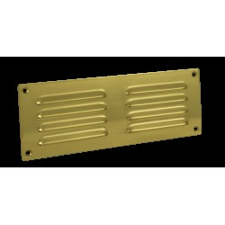 242mm x 89mm Brass Hooded Louvre Vent