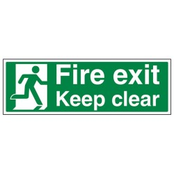 EC08D-S S/ADH Fire Exit Keep Clear Sign