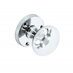 Chrome Victorian Round Mortice Door Knob