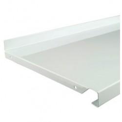 500mm x 220mm White Metal Shelf