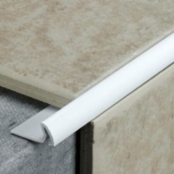 2.4m x 7mm White Tile Trim