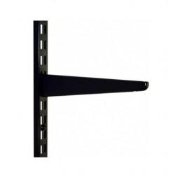 120mm Black Twin Slot Shelving Bracket