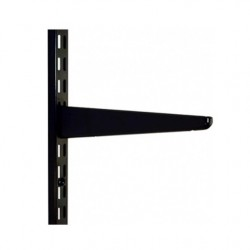 220mm Black Twin Slot Shelving Bracket