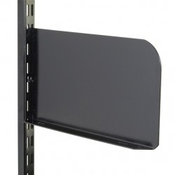 250mm x 150mm Black Twin Slot Shelf End (Pair)