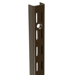 1000mm Brown Twin Slot Upright