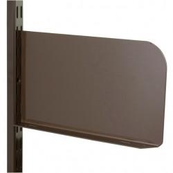 250mm x 150mm Brown Twin Slot Shelf End (Pair)