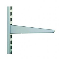 120mm Matt Silver Twin Slot Shelving Brackets