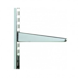 120mm Chrome Twin Slot Shelving Bracket