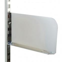 250mm x 150mm Chrome Twin Slot Shelf End (Pair)