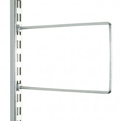 Chrome Flexible Book End Pair 150mm x 120mm