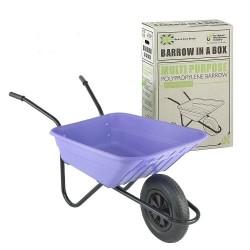 90L Lilac Plastic Polypropylene Wheelbarrow