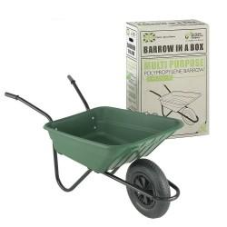90L Green Plastic Polypropylene Wheelbarrow