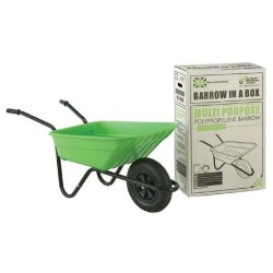 90L Lime Barrow-in-a-Box Multi-Purpose Polypropylene Wheelbarrow