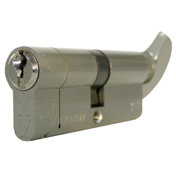 35/35T 1* TS007 Nickel Plated Euro Cylinder