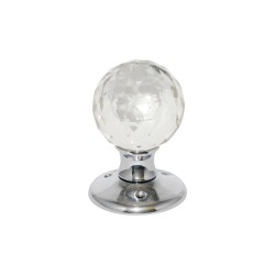 Chrome Plated Glass Ball Mortice Door Knob Handles Set