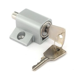 Silver Window / Patio Door Lock