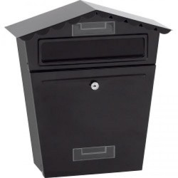 SupaHome Black Letter Box