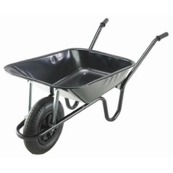 85L Galvanised Contractor Barrow with Pneumatic Tyre