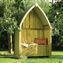 Winchester Arbour - Natural Timber  - 2135 x 1390 x 700mm