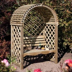 Victoria Arbour - Natural Timber - 1990 x 1340 x 800mm