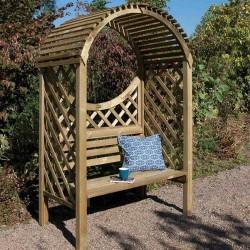 Keswick Arbour - Natural Timber - 2075 x 1320 x 800mm