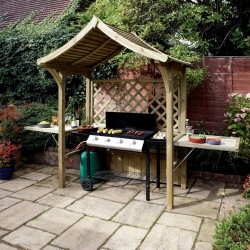 Party Arbour - Natural Timber - 2400 x 1810 x 1290mm