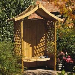 Tenbury Arbour - Natural Timber - 2340 x 1765 x 940mm