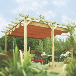 Verona Canopy - Natural Timber - 2545 x 3900 x 3620mm