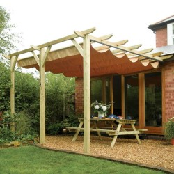 Sienna Canopy - Natural Timber - 2545 x 3900 x 3330mm