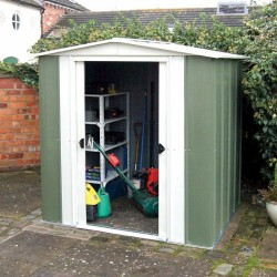 Greenvale Metal Apex Shed - 6 x 5 ft