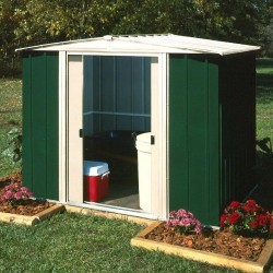 Greenvale Metal Apex Shed - 8 x 6 ft