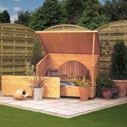 Garden Chest - Dipped Honey Brown - 920 x 1375 x 895mm