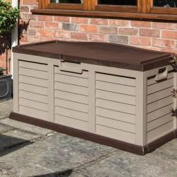 Plastic Storage Box/Bench - Mocha & Coffee - 635 x 1575 x 750mm