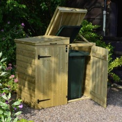 Apex Bin Store - Natural Timber - 1200 x 915 x 355mm