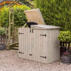 Heritage Apex Bin Store - Grey Wash Paint - 1300 x 1530 x 810mm