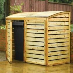 Double Bin Store - Natural Timber - 1280 x 1560 x 820mm