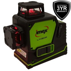 Imex 3D Multi-Line Laser 3 x 360° Lines Red Beam